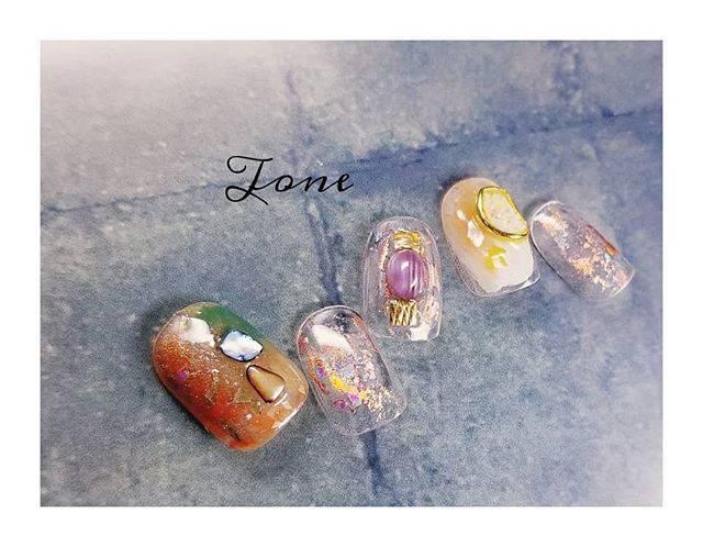 """ネイルサロン""""Tone""""京都四条烏丸/ニュアンスネイル on Instagram: """"薬指が目玉焼き🍳みたいで可愛い🐣 . . private nailsalon """"Tone"""" 京都四条烏丸 ~ご予約/お問い合わせ ~ LINE 【@ece6351l】 MAIL【nailsalon.tone@gmail.com】…"""" (20237)"""