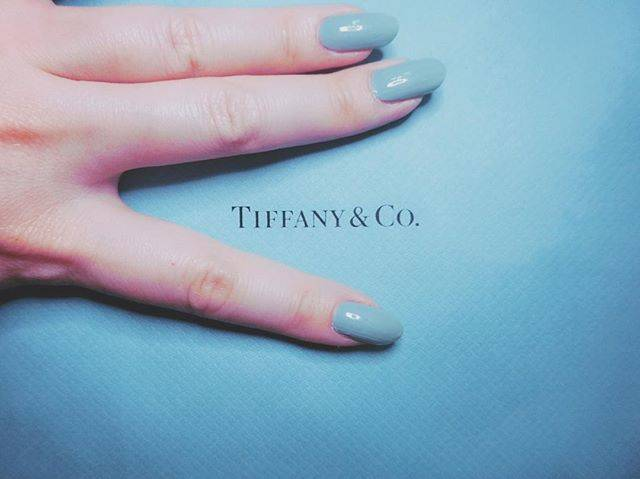 "🐻ちゃんまり🍑 on Instagram: ""Tiffany blue♡#nail #nailstagram #instanails #Tiffany  #blue #polish #nailholic  #ネイル #セルフネイル #ネイルホリック"" (20362)"