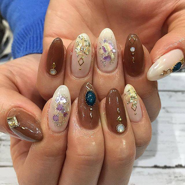 "@rounge_nail_natsuki on Instagram: ""シェルネイル🐚 . . #new#nail#newnails#nailart#gelnails…"" (20696)"