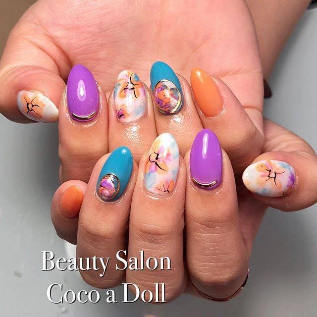 """Beauty salon Coco a Doll♡ on Instagram: """"定額サンプルのデザインから選んで頂きました😊 いつも色んなお話しをありがとうございます💕 今回も可愛らしいA様に癒されました☺️ A様、ご来店ありがとうございました♡…"""" (21035)"""