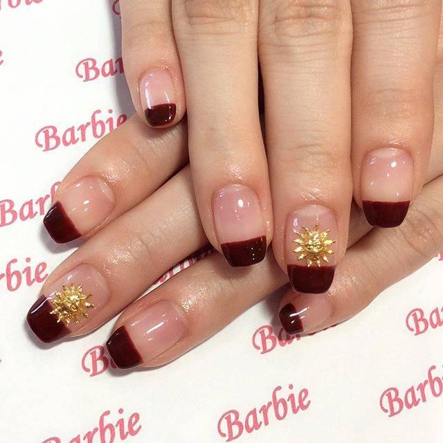 """Nailsalon.Barbie on Instagram: """"どんな服装にも合わせやすい💅🏽😊シンプルなカジュアルネイル🥀🌹カラーは作りました🌞#nail#nailart#nails…"""" (21265)"""