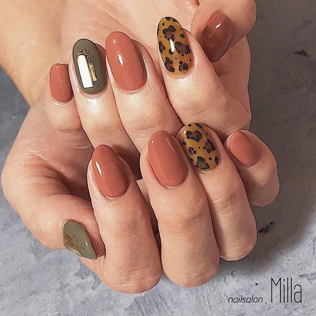 private nail salon【Milla】さんはInstagramを利用しています:「🐆🐆🐆🐆 . . . . #nail #nails #newnails #millanail #ネイル #ジェルネイル #スカルプ  #ネイルサロン #桑名市ネイルサロン #桑名ネイルサロン #四日市ネイルサロン #いなべネイルサロン #秋ネイル #オータムネイル…」 (21937)