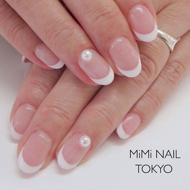 """MiMi NAIL TOKYO on Instagram: """"フレンチネイル✨ 90min . . . #nail #nailstagram  #nails #nailart #nailed #handnail  #nailfie #gelnails  #ネイル #シンプルネイル #フレンチ  #フレンチネイル #オレンジネイル…"""" (22623)"""