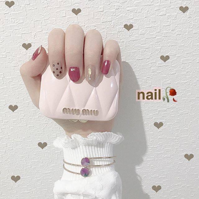 "Misaki Shimizu on Instagram: ""♥︎︎...セルフネイル🐈♥️....#nail #💅🏻#rili_tokyo"" (23331)"
