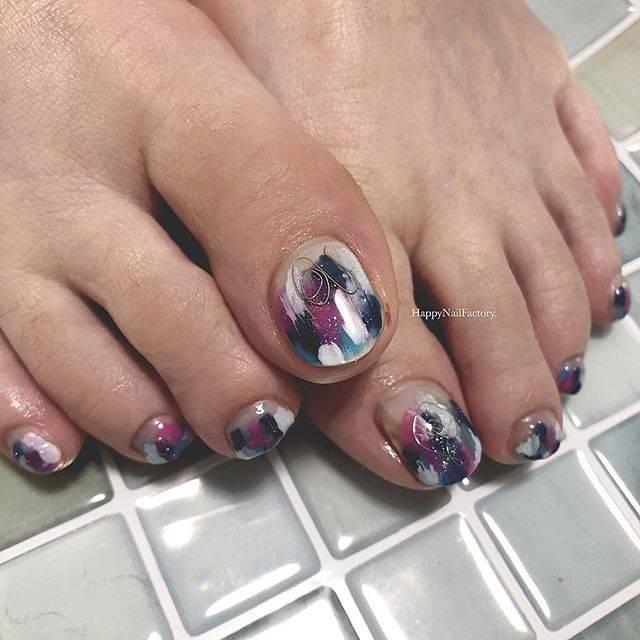 """𝔸𝕪𝕒𝕐𝕒𝕞𝕒𝕘𝕦𝕔𝕙𝕚 on Instagram: """"#happynailfactory . . . Thank you,sayoちゃん♡ 塗りかけ#フットネイル おしゃれ♩🧚🏻♀️ . . . #ayaaanail #footnail #foot #nail#nails #nailart…"""" (24363)"""