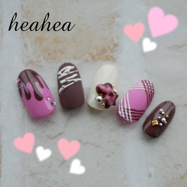 14.チョコレートネイル