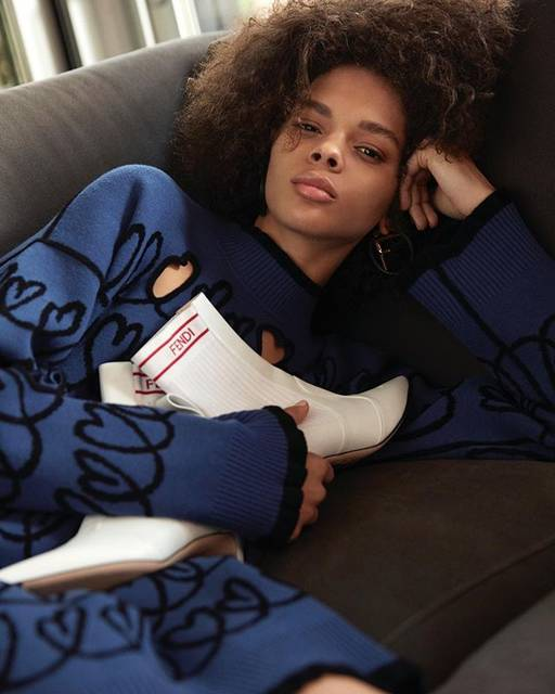 """Fendi on Instagram: """"Fendi Rockoko booties feature sporty elements for a contemporary and casual look. Discover more from the #FendiPreFall18 Collection on…"""" (27360)"""