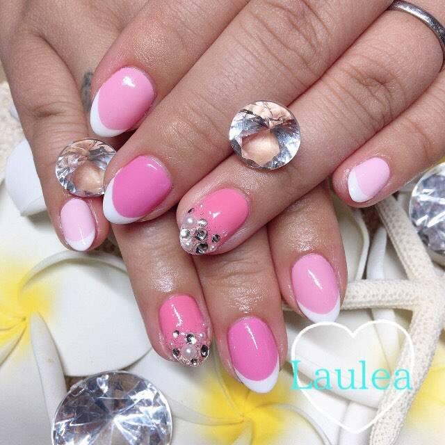 44.ピンクベースフレンチネイル