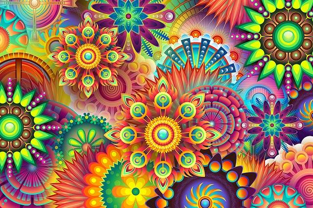 Psychedelic Colorful Colors - Free image on Pixabay (37506)