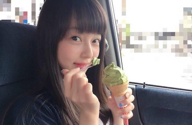 """思わず口が開いてしまう!? """"抹茶大好き""""な西田ひらりがソフトクリームを食べている写真が可愛すぎると話題!"""