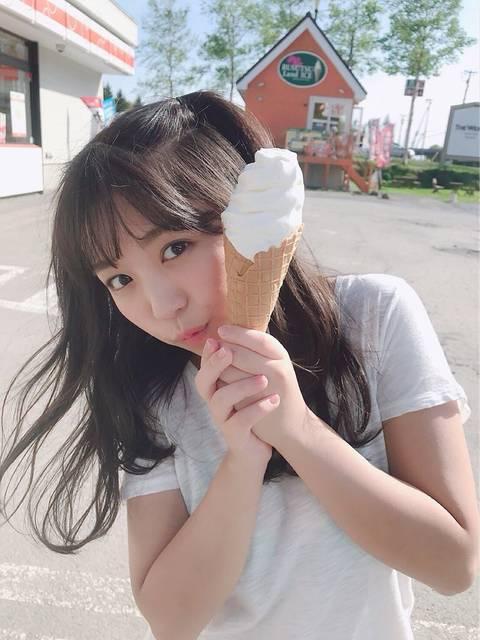大原優乃のソフトクリームから「ひょっこりはん」が可愛ずぎると反響♡「圧倒的天使感」
