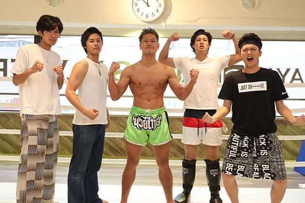 全員の身長が180cm以上の8人組男性ボーカルグループSOLIDEMO(ソリディーモ)がキックボクシングでK-1選手に挑戦!!