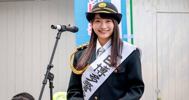 日本一かわいい女子高生 福田愛依の警察署長姿が「眩しすぎる!」と話題