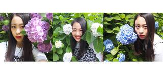 どの写真がお気に入り?lol(エルオーエル)のmocaがインスタに投じた3枚の写真のいいね合戦が白熱!【あじさいと美少女の組み合わせは無敵に映える!】