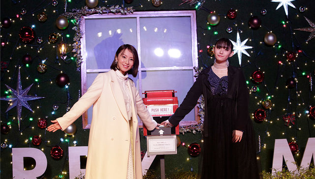 aoyama christmas circus今年も開幕!点灯式に鈴木亜美、浅川梨奈が登場!