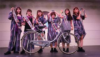 自転車盗難防止匿名大使に大阪☆春夏秋冬が決定!