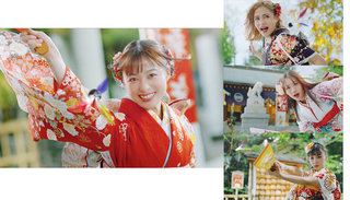 橋本環奈と共演する晴れ着美女3人組はダレ!?