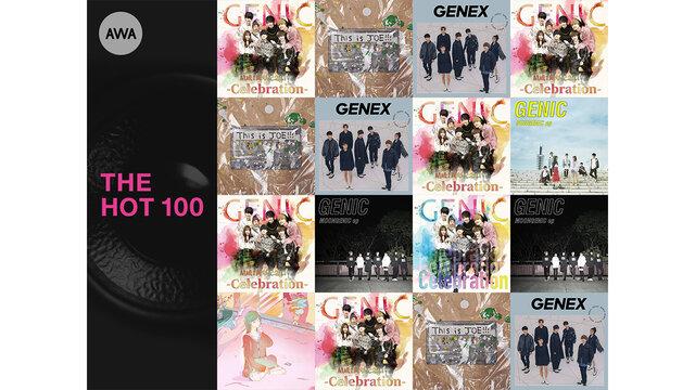 GENICの楽曲が「AWA」のランキング上位を独占!
