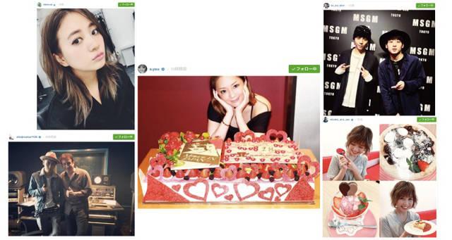 浜崎あゆみ、AAA 宇野実彩子、伊藤千晃、與真司郎、Da-iCE、江野沢愛美など【Instagramピックアップ10】