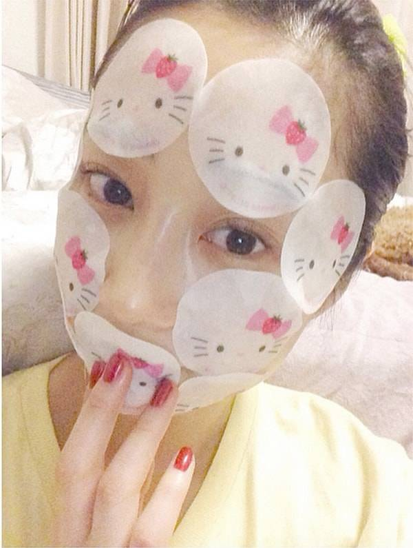 キティちゃんポイントマスクで集中ケア!