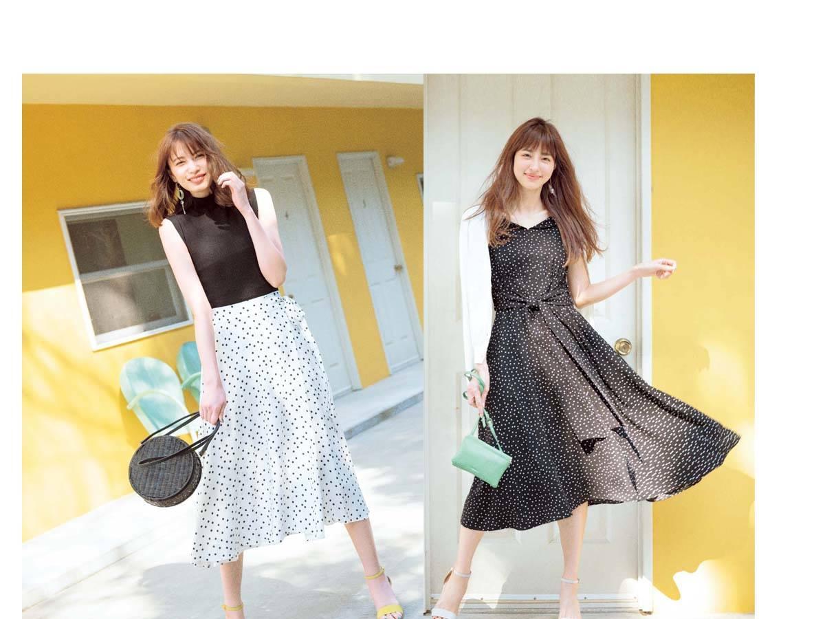 bdd395633d9c9 ドットスカートコーデ♡ 2019春夏は大人のレトロ感! 白、黒やロング丈などおすすアイテム