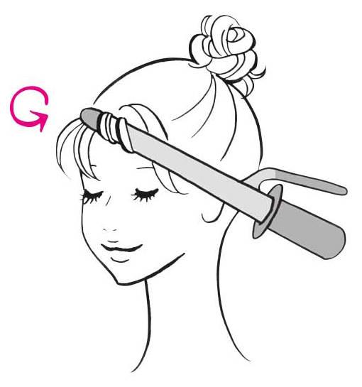 ---〈3〉おくれ毛と前髪をアイロンで内巻きに