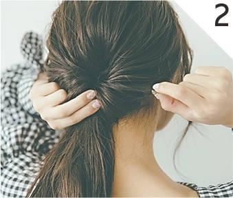 ---ねじれた部分から髪を引き出す