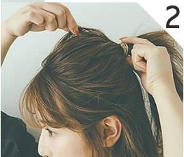 ---やや太に髪を取って引き出す