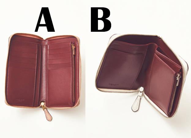 c15470e25100 Aバッグにしまいやすいミドルサイズのウォレット。温かみのあるベージュピンクにキラリと輝くクリスタルリベットが可愛げをプラス。優しげなルックスに反して、内側は  ...