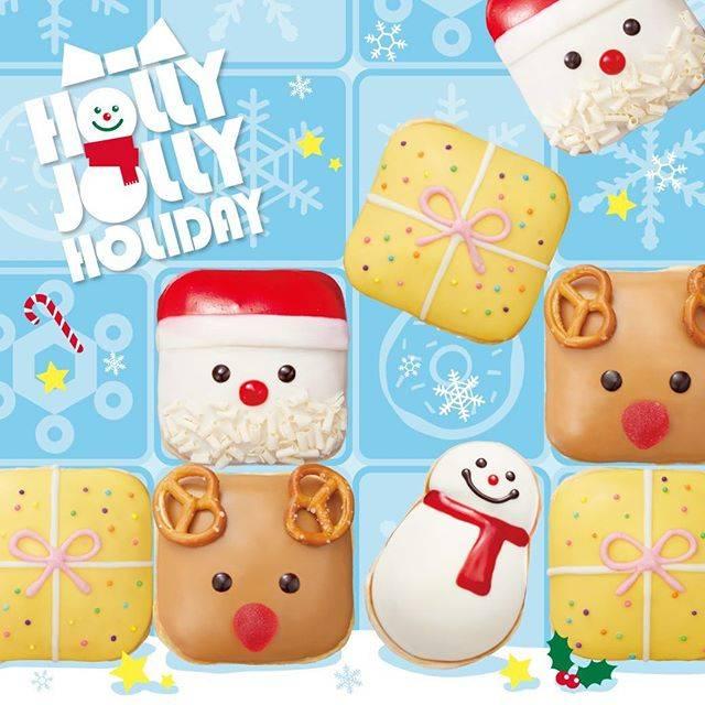 """クリスピー・クリーム・ドーナツ on Instagram: """"🎄本日から発売🎄 サンタやトナカイ、プレゼントボックスが、四角いカクカクシェイプのドーナツになって登場『 #HollyJollyHoliday 』💕 . 今年のクリスマスシーズンは、みんなで限定ドーナツ🍩を囲んで楽しみませんか? . #クリスマスドーナツ  #ホリデードーナツ…"""" (331208)"""