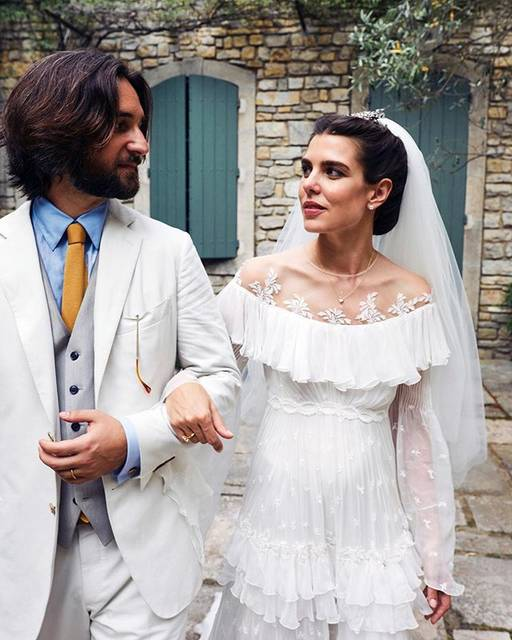 "Giambattista Valli Official on Instagram: ""Congratulations Charlotte Casiraghi and Dimitri Rassam on their wedding in Saint-Remy-de-Provence. The bride wore a custom Giambattista…"" (510007)"