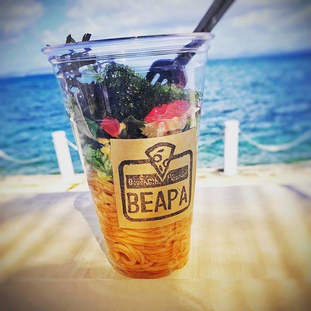 海ぶどうの冷製パスタが沖縄らしくて素敵!