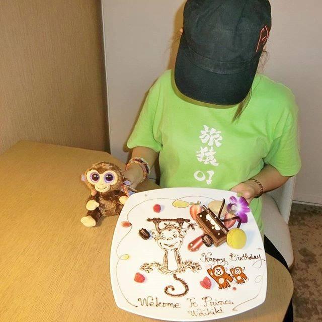 """旅猿69 on Instagram: """"#ハワイ69 waikiki ukiuki!! 旅猿で泊まっていたプリンスワイキキに1泊しました。  同行者がお誕生日だったので、誕生日ケーキをお願いしました。  お猿さんのぬいぐるみ、ホテルの売店で購入♪  しかしこちら、ABC STOREで普通に売っていたし、…"""" (568310)"""