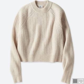 ユニクロ|チャンキーリブモックネックセーター(長袖)+E|WOMEN(レディース)|公式オンラインストア(通販サイト) (80033)