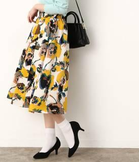 アートフラワーギャザースカート。ビス。色使いやタッチな...