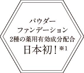 パウダーファンデーション2種の薬用有効成分配合日本初!※1