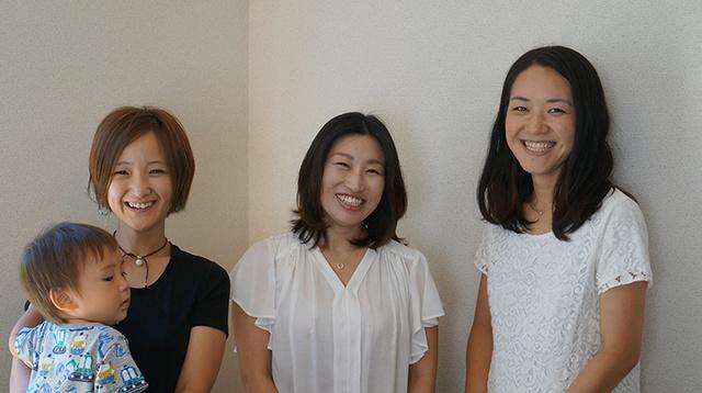 (右から)豊田さん、鈴木さん、石井さん