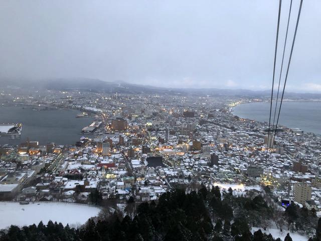 函館はすでに雪景色