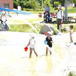 【愛知】流れのないせせらぎと噴水で遊べる「野方三ツ池公園」