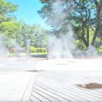 【愛知】ゲーム感覚で楽しめるミスト噴水「フラワーパーク江南」