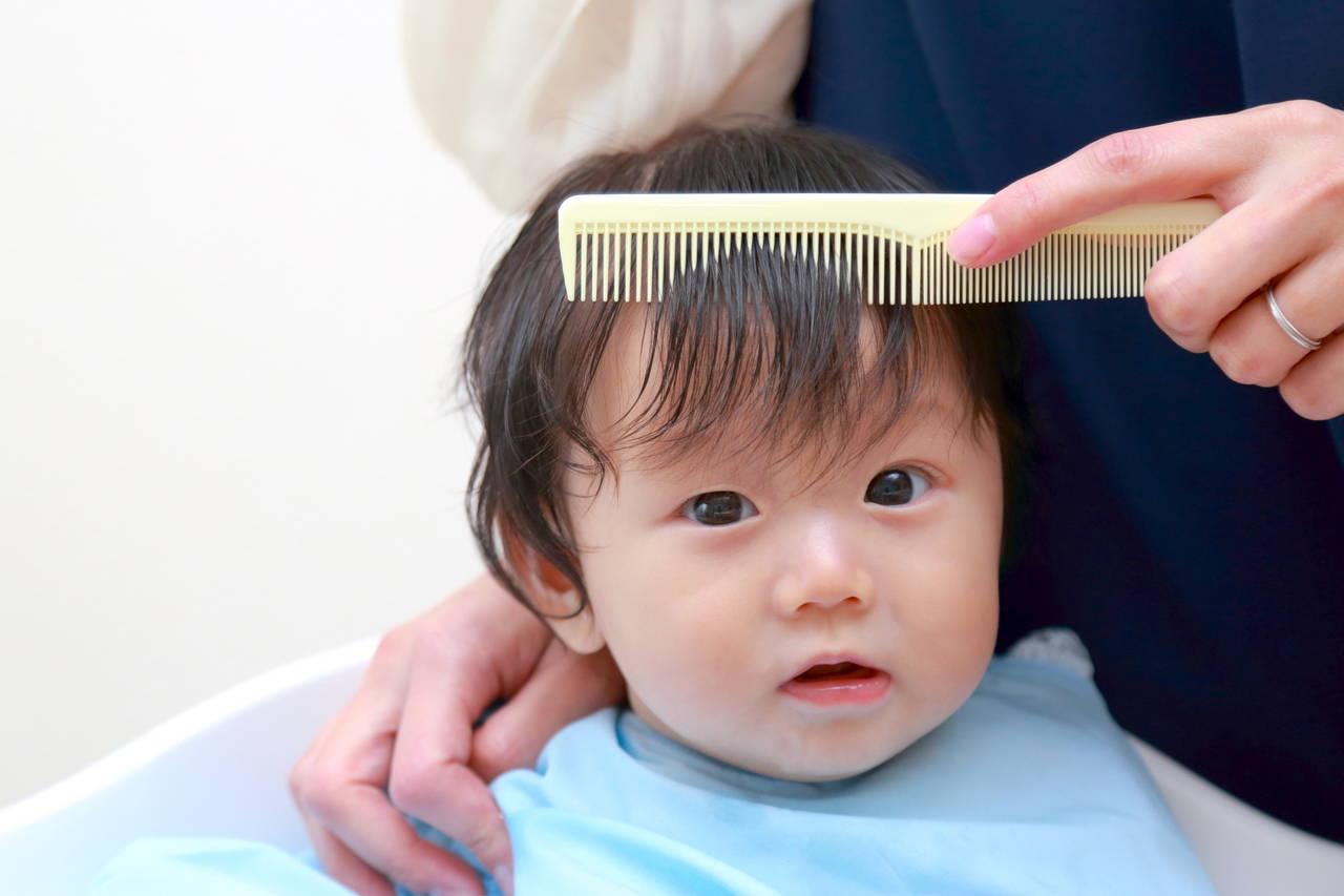 乳児の散髪のタイミングは?自宅カットのコツや事前準備をご紹介