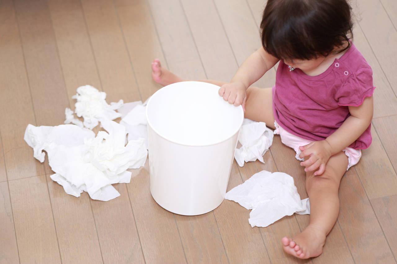 赤ちゃんのゴミ箱いじり安全対策!おすすめのゴミ箱も紹介