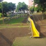 【東京】穴場!長いローラーすべり台で遊べる「新川谷端児童公園」