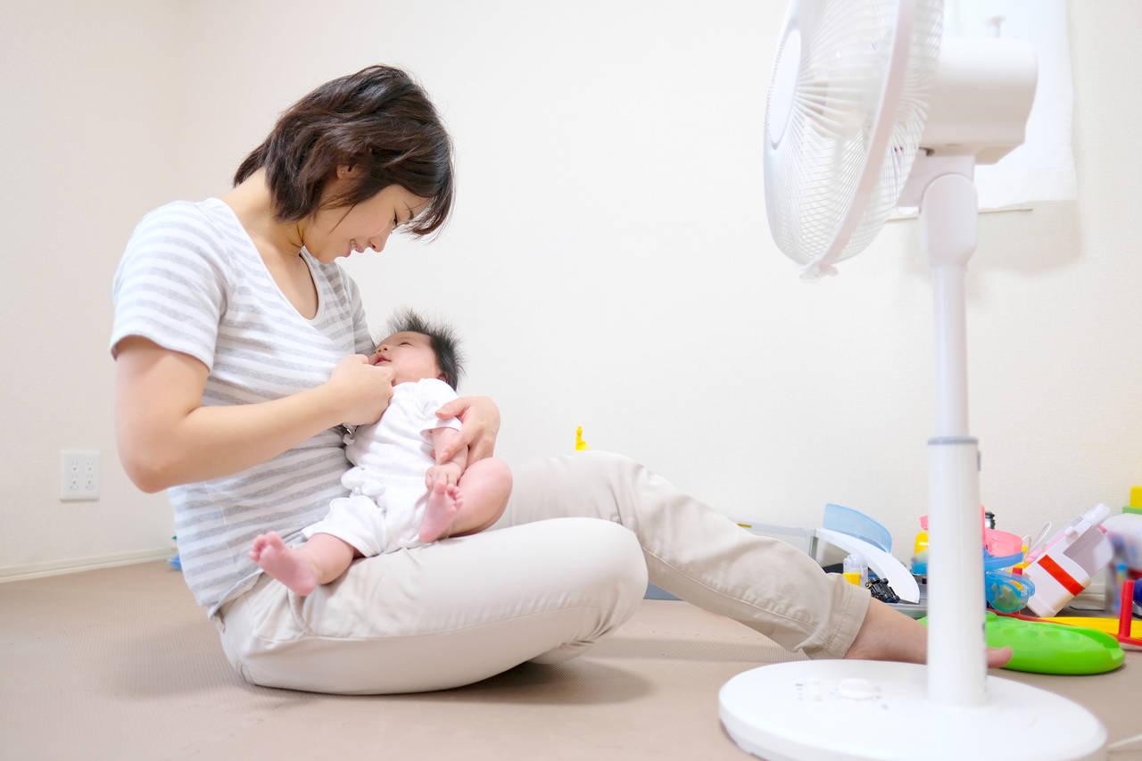 夏に出産すると特に気になる室温!エアコンの上手な使い方と注意点