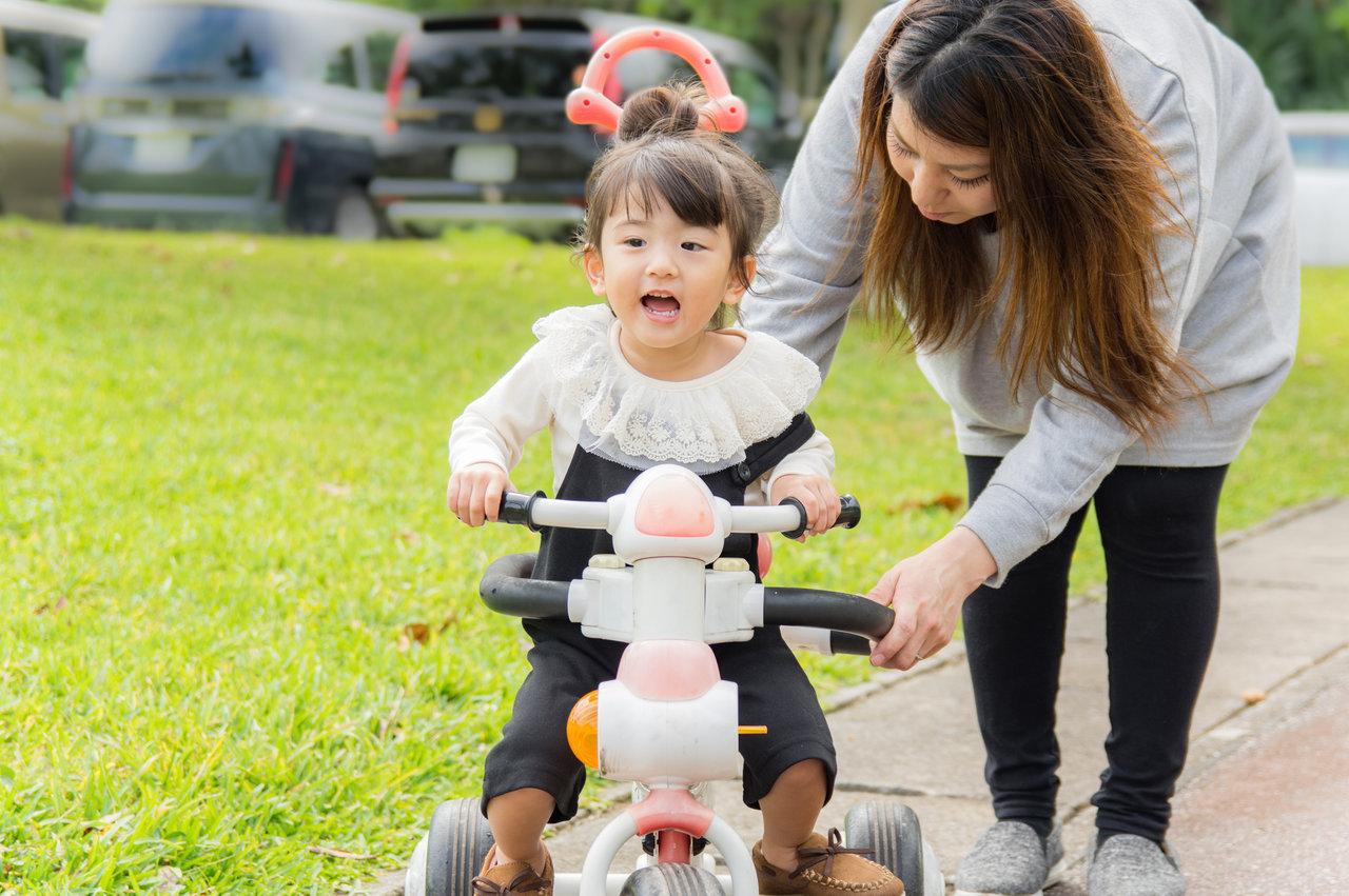三輪車の置き場に悩むママは多い!置き場に困らない三輪車を選ぼう