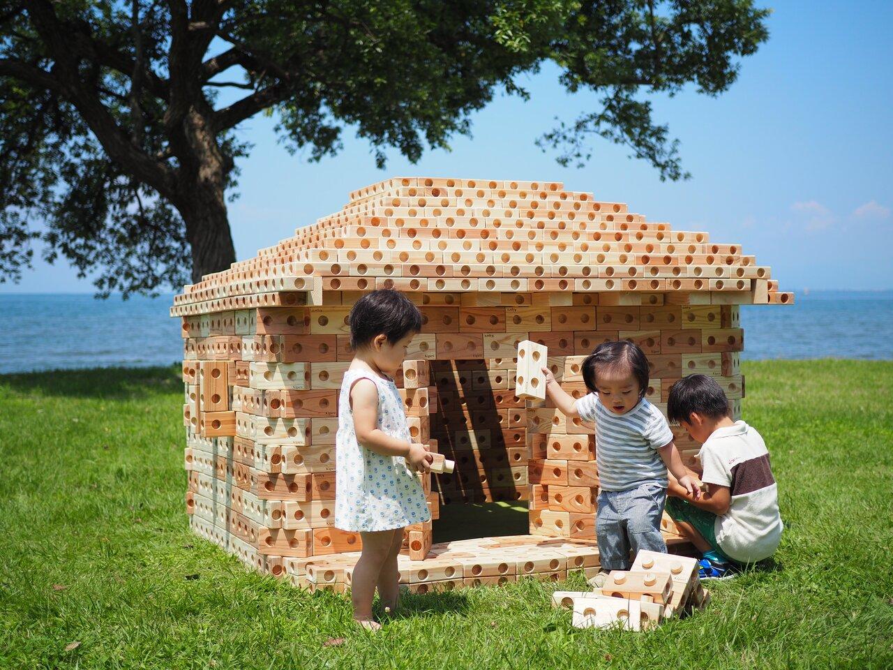 天然木製ブロックでお家が作れる!「ズレンガ」販売開始