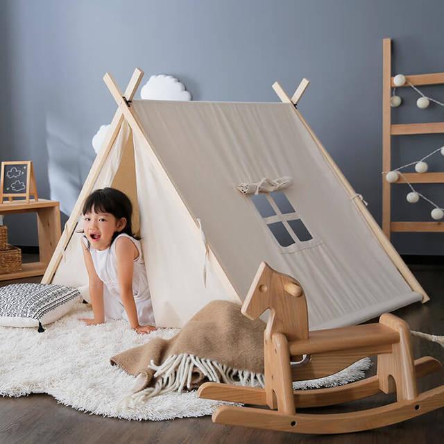 テントハウス 子供用 軽量タイプ コットン 室内 [幅121] | 【公式】LOWYA(ロウヤ)|家具・インテリアのオンライン通販