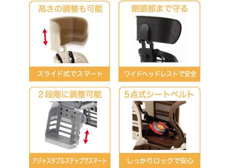 RBC-007DX3(ヘッドレスト付デラックスリヤキッズシート)   OGK技研株式会社