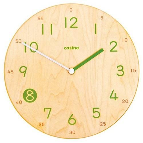 Amazon|コサイン 子ども時計(ウォールクロック)