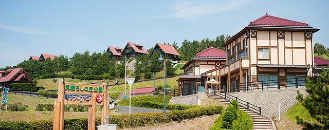 島根県出雲市多伎町にある日本海を一望できる人気のログハウス・コテージ「見晴らしの丘公園キララコテージ」